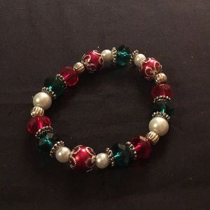 Jewelry - Red and Green Ornament Stretch Bracelet